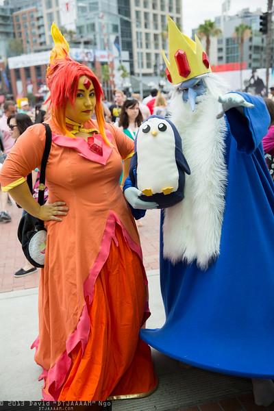 Flame Princess, Ice King, and Gunter