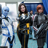Liara T'Soni, Miranda Lawson, and Commander Shepard