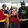 Robin, Harley Quinn, and Batman