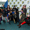 Supergirl, Huntress, Robin, Nightwing, Wonder Woman, Batgirl, Batman, Poison Ivy, Riddler, Harley Quinn, and Two-Face
