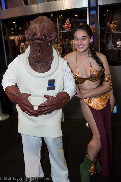 Admiral Ackbar and Princess Leia Organa