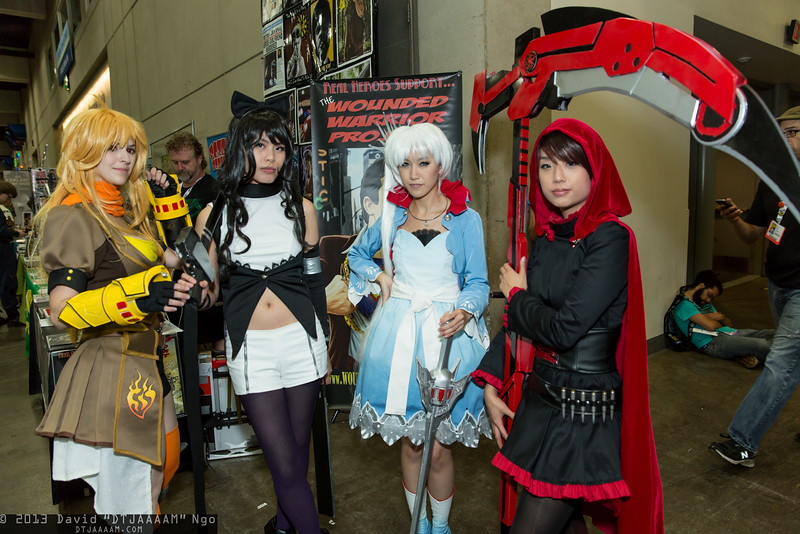 Yang Xiao Long, Blake Belladonna, Weiss Schnee, and Ruby Rose