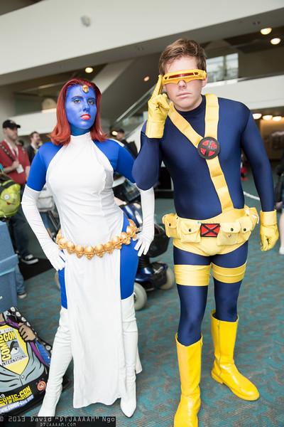 Mystique and Cyclops