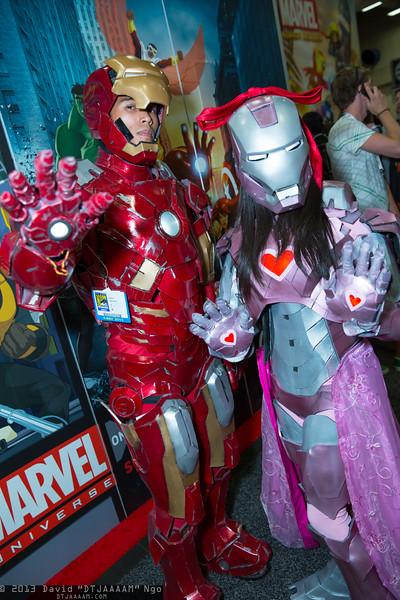 Iron Man and Iron Woman