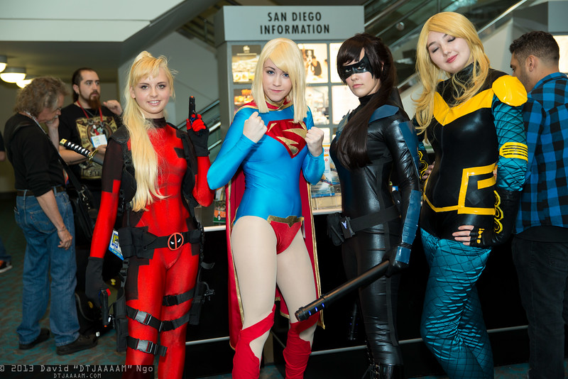 Lady Deadpool, Supergirl, Nightwing, and Black Canary