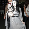 Lily Munster and Sparky