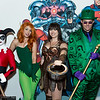 Harley Quinn, Poison Ivy, Xena, and Riddler