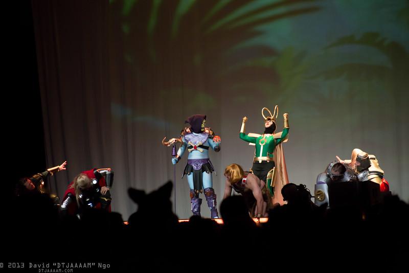 Hogun, Thor, Skeletor, He-Man, Loki, Fisto, and Ram Man