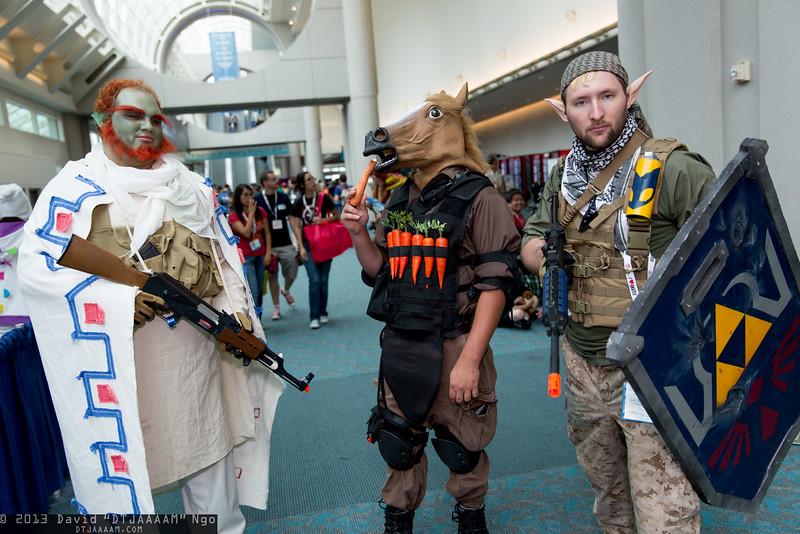 Ganondorf, Epona, and Link