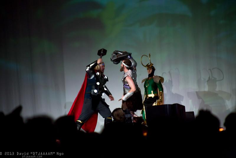 Thor, Fisto, and Loki