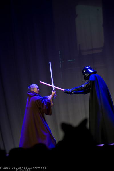 Leah and Darth Vader