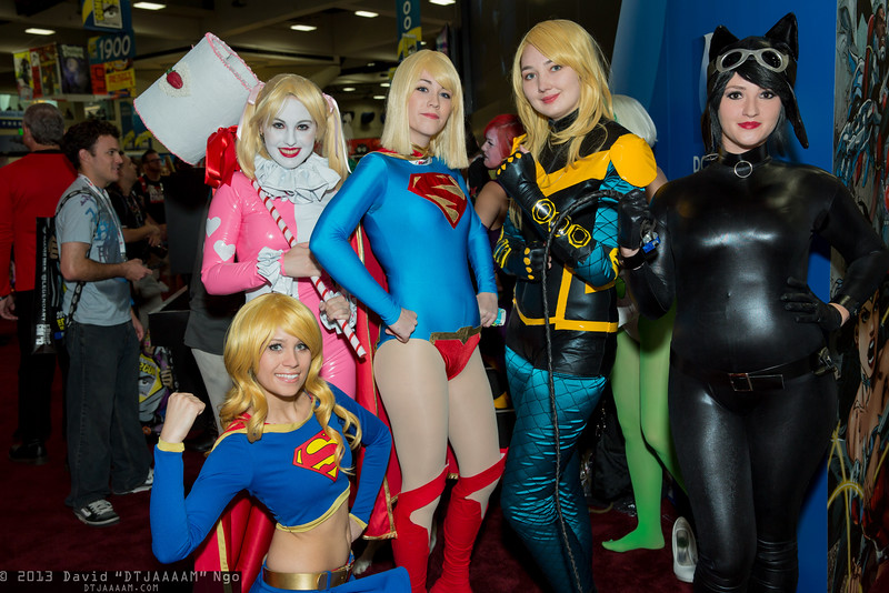 Supergirls, Harley Quinn, Black Canary, and Catwoman