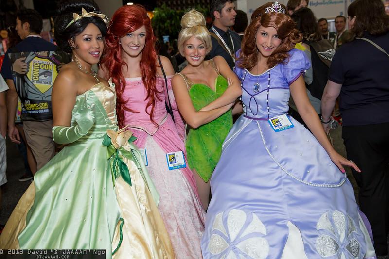 Tiana, Ariel, Tinker Bell, and Sofia