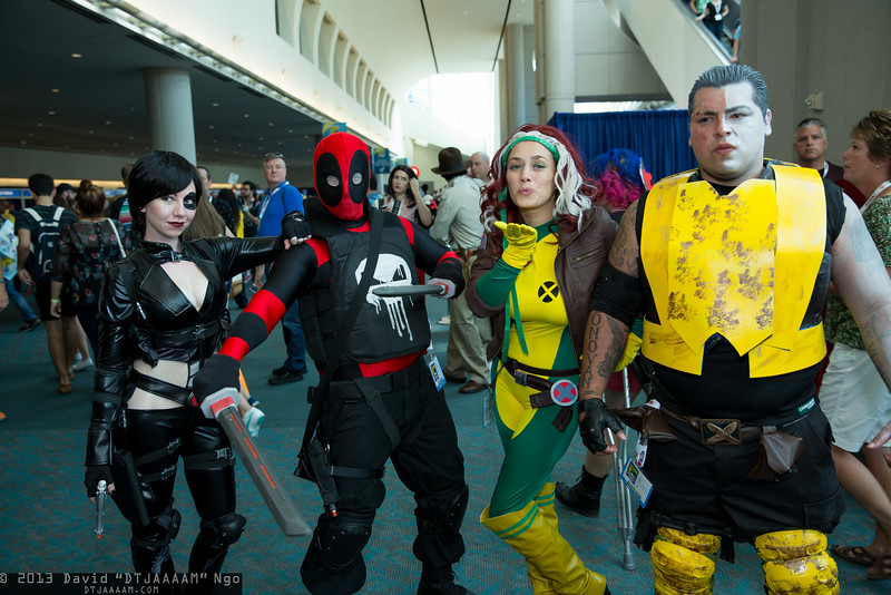 Domino, Deadpool, Rogue, and Cable