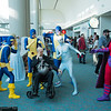Marvel Girl, Cyclops, Angel, Professor X, Beast, Iceman, and Magneto