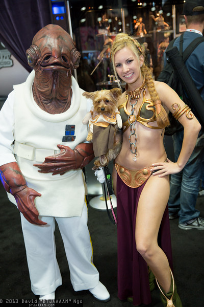 Admiral Ackbar and Princess Leia Organas
