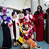 Yzma, Cruella de Vil, Queen of Hearts, Hunter, Captain Hook, Horned King, and Dr. Doom
