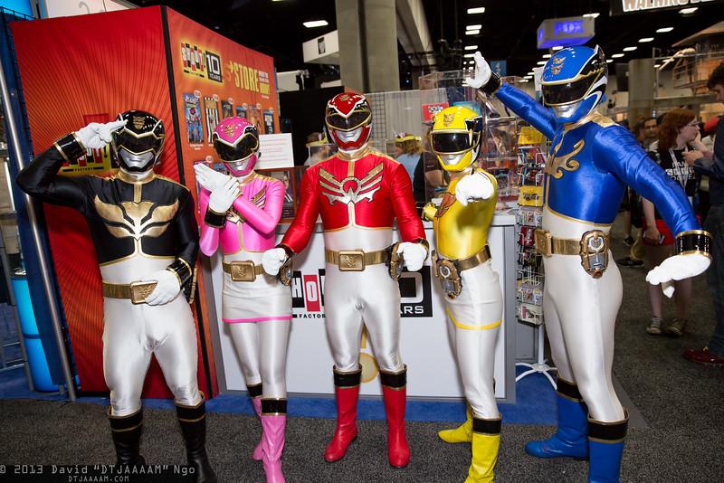 Megaforce Black, Megaforce Pink, Megaforce Red, Megaforce Yellow, and Megaforce Blue