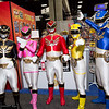 Megaforce Black, Megaforce Pink, Megaforce Red, Megaforce Yellow, and Megaforce Blue