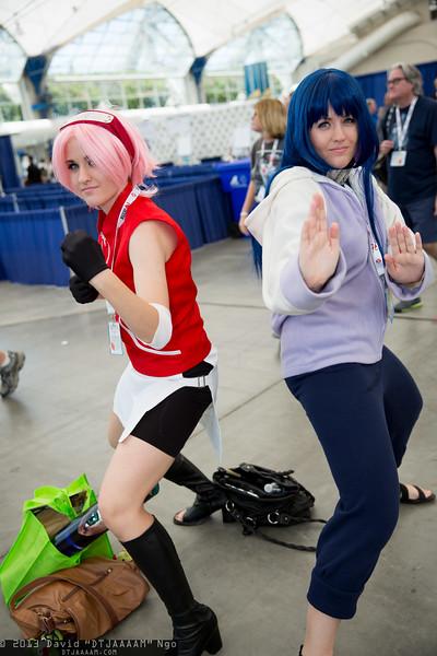 Sakura Haruno and Hinata Hyuga