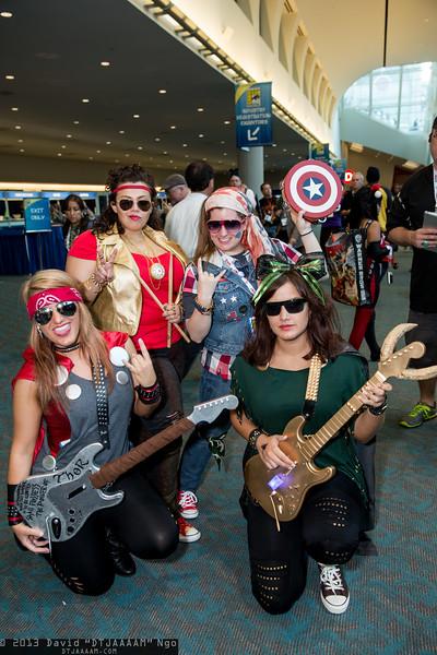 Thor, Iron Man, Captain America, and Loki