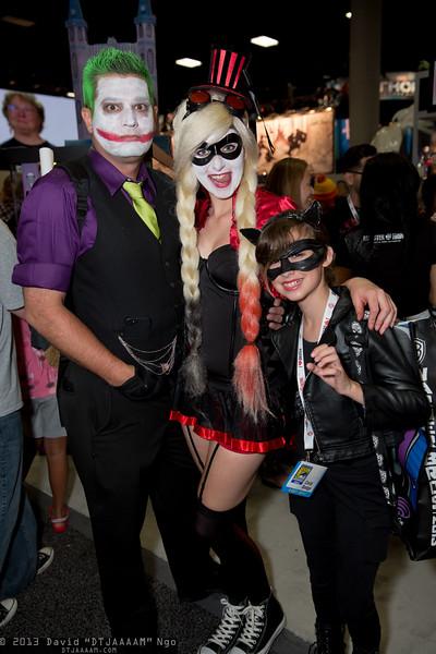 Joker, Harley Quinn, and Catwoman