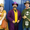 Princess Daisy, Wario, and Luigi