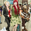 Harley Quinn, Poison Ivy, and Scarecrow
