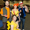 Brock, Pikachu, Misty, and Ash Ketchum