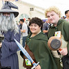 Gandalf the Grey, Frodo Baggins, and Samwise Gamgee