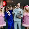 Fembots, Austin Powers, Dr. Evil, and Mr. Bigglesworth