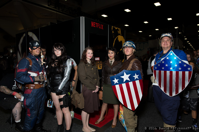 Captain Americas, Winter Soldier, and Peggy Carters