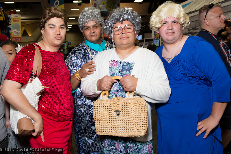 Blanche Devereaux, Dorothy Zbornak, Sophia Petrillo, and Rose Nylund