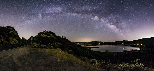 The Milky Way Arch Over Lake Henshaw