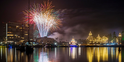 New Year's Eve Fireworks at the Hotel del Coronado.