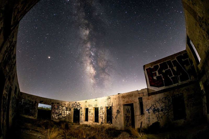 Milky Way Above the Ruins of the Buckman Springs Lithia Water Bottling Plant