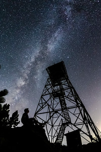 Selfie and Milky Way at Highpoint Lookout: Fire Lookout Tower On Palomar Mountain