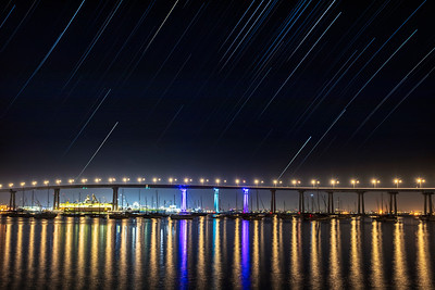 Star Trails Over the San Diego-Coronado Bay Bridge