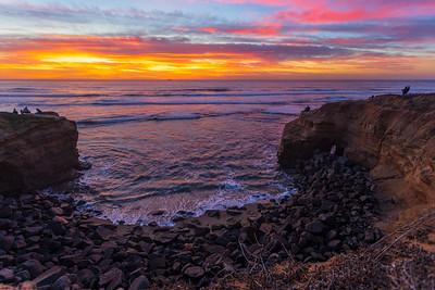 Tonight's Amazing Sunset At Sunset Cliffs.