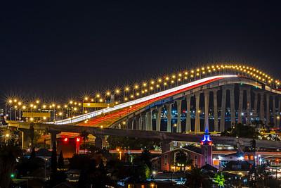 Traffic On The San Diego–Coronado Bridge Tonight.