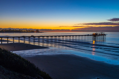 Scripps Pier Sunset