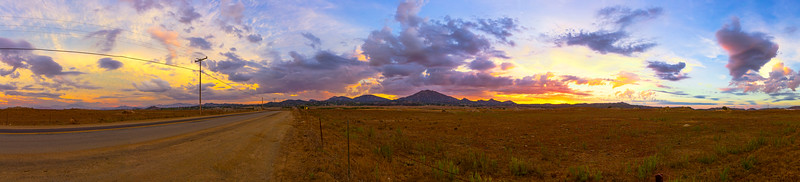 Ramona Grasslands Preserve Sunset Panorama - 2