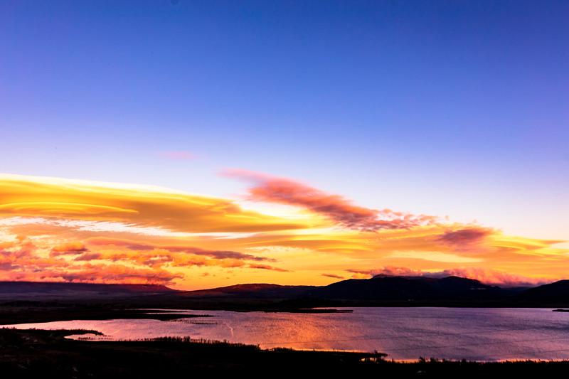 Lake Lenticulars: Lenticular Wave Cloud Sunset at Lake Henshaw