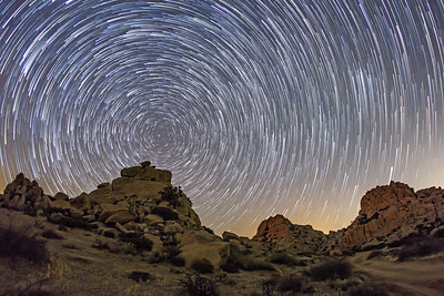 San Diego's Valley of the Moon Star Trails