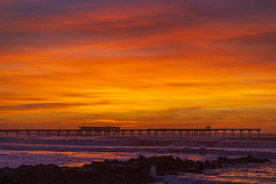 Tonight's Spectacular Surreal Stunning Sunset in Ocean Beach.