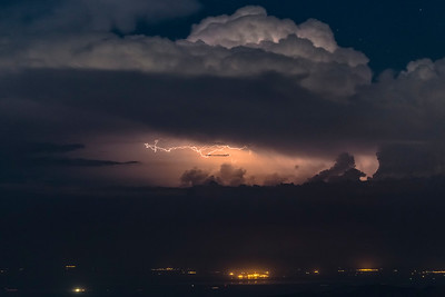 Horizontal Lightning Over Bombay Beach at the Salton Sea