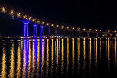 San Diego-Coronado Bay Bridge Lighting Test.
