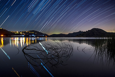 -=- Star Trails Over Lake Hodges -=-