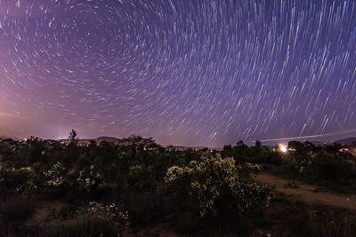 Star trails over Ramona