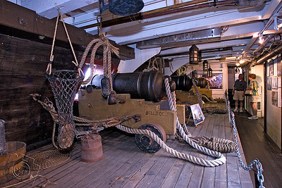 Gun deck of HMS Surprise